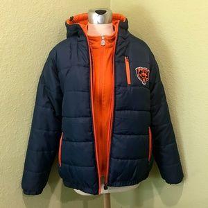 Chicago Bears 3-in-1 Puffy Winter Jacket w/ Fleece